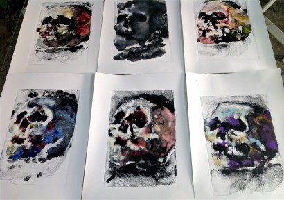 monotypes Peggy Viallat