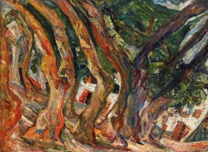'Les_Platanes_à_Céret'_by_Chaïm_Soutine,_c_1920