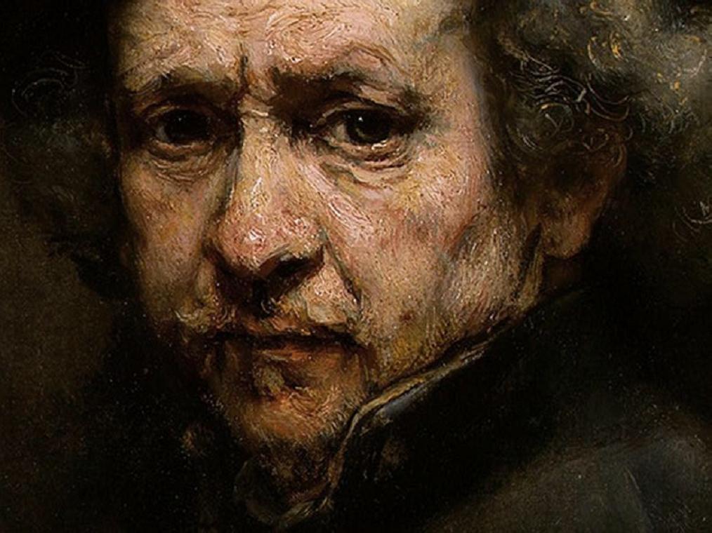 Detail of Rembrandt Self-Portrait, 1659
