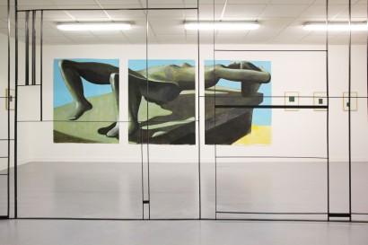 vue exposition Figures à l'Angle, espace d'art à La Roche sur Foron, 2016.